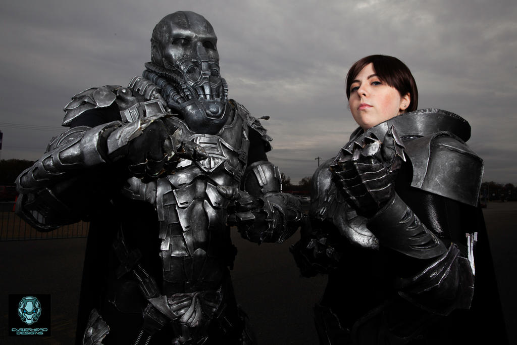 Zod and Faora in Kryptonian Battle Armor by ...