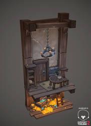 Hidden treasure diorama by AntonioNeves
