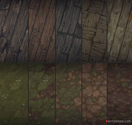 Hand painted textures that I did for Bitgem