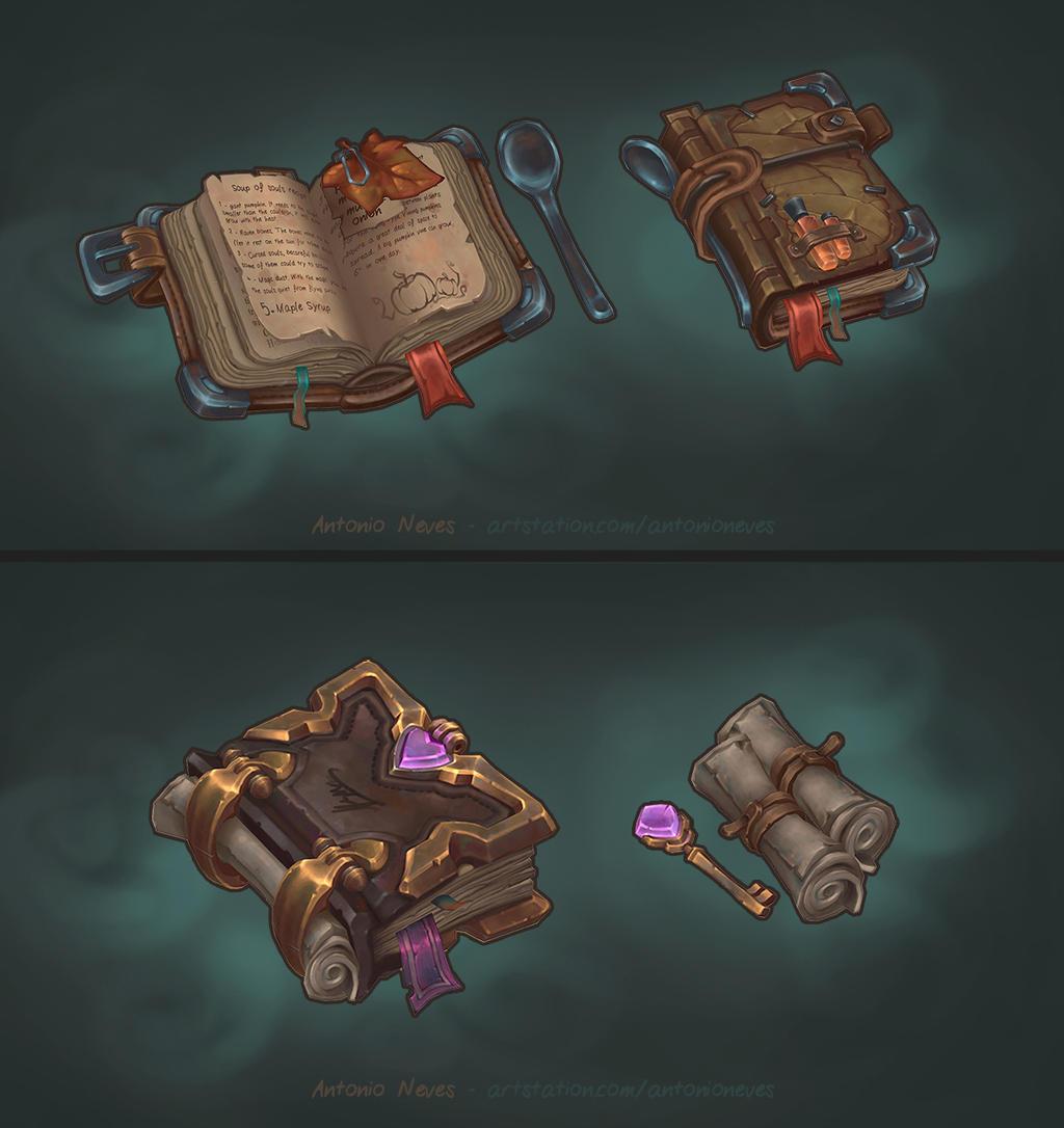 Handpainted fantasy books