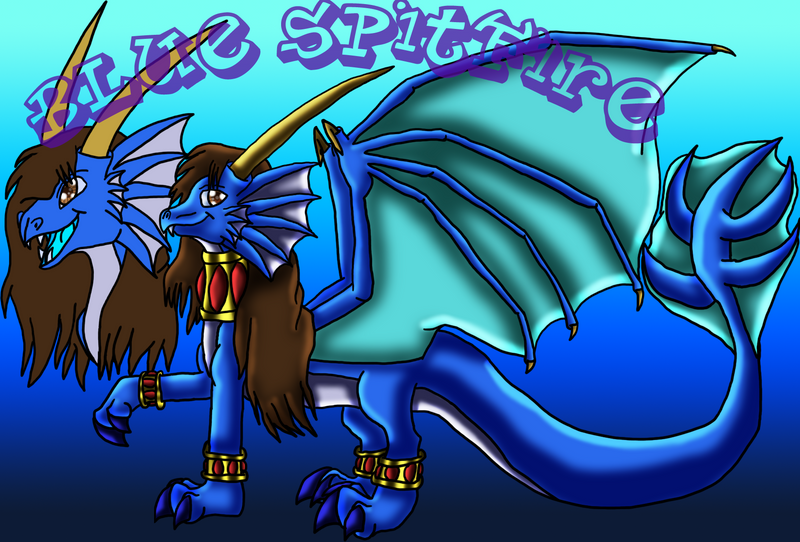 Skylanders Blue Spitfire by DragonessBlue
