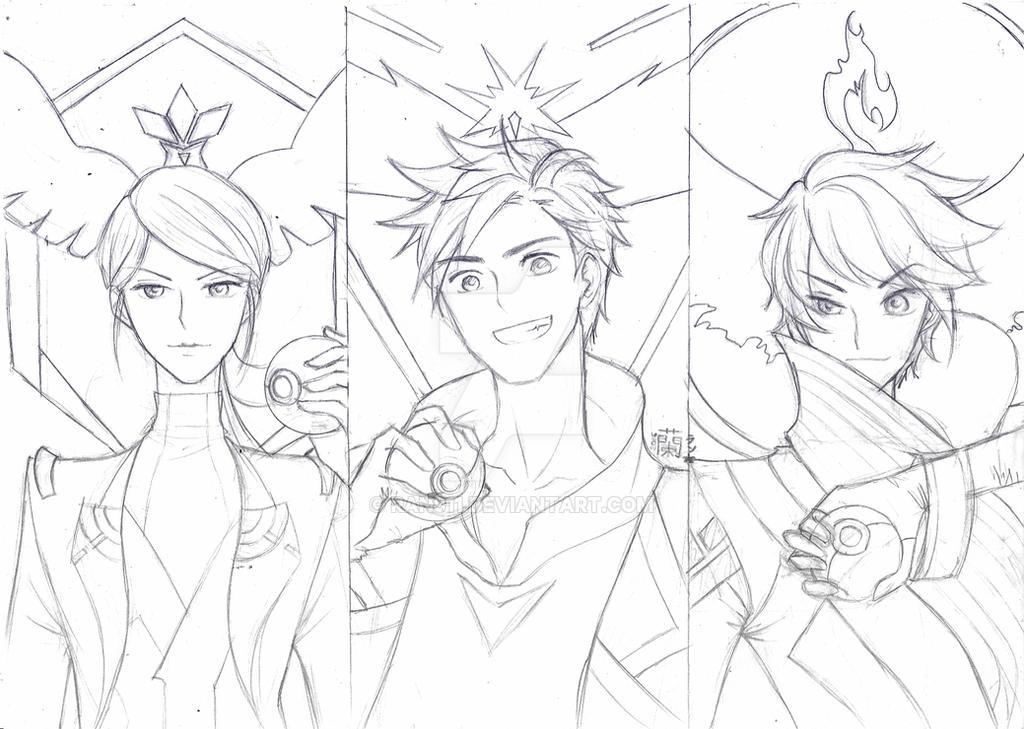 Pokemon Go : All Team Leader by ran911