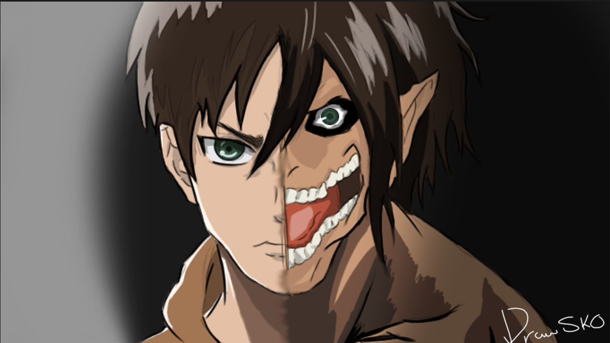 Eren Yeager Shingeki no Kyojin (Attack on Titan) by ...