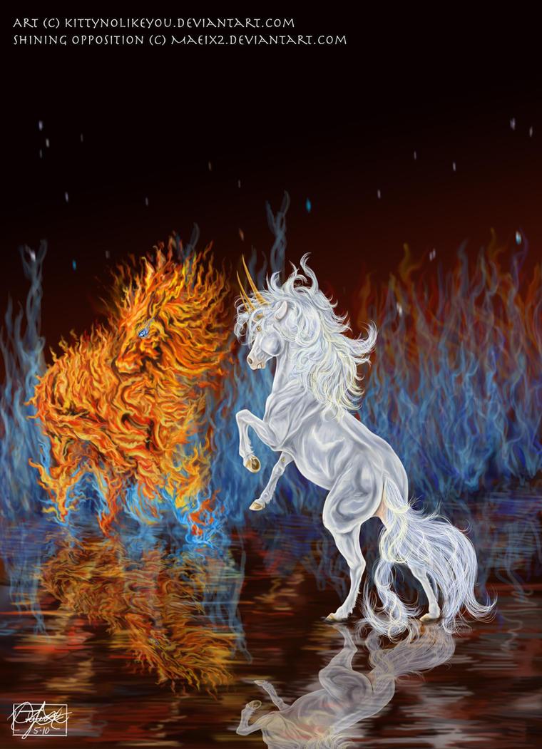 Shining Flames by KittyNoLikeYou