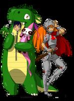 Aki Con mascots 2015