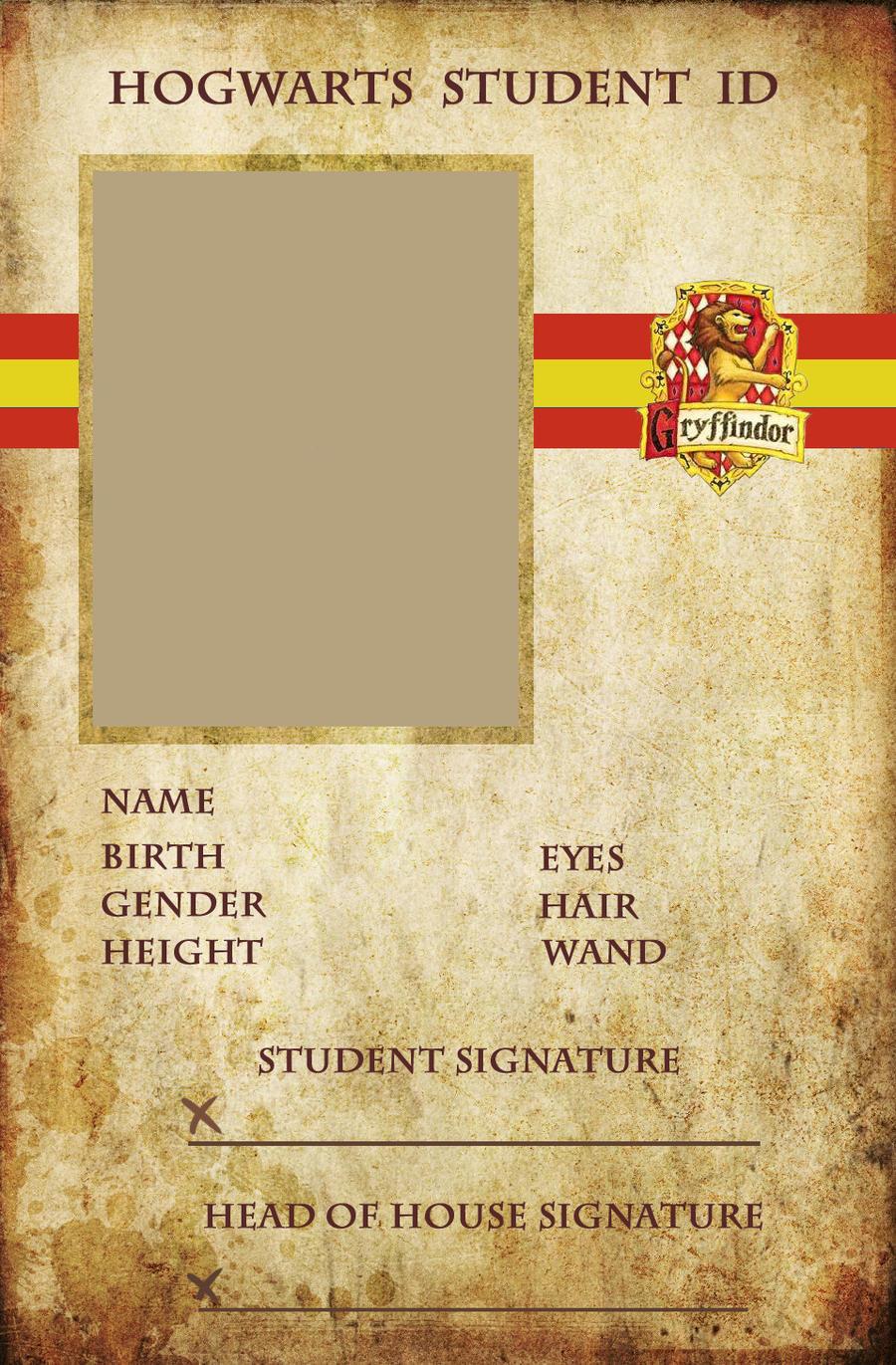 Gryffindor ID by animejunkie106