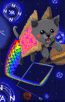 Nyan Cat: Textual Assault by Balto-Boy