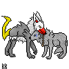 Damian and Saiya Sprite-PC by WolfFlame12