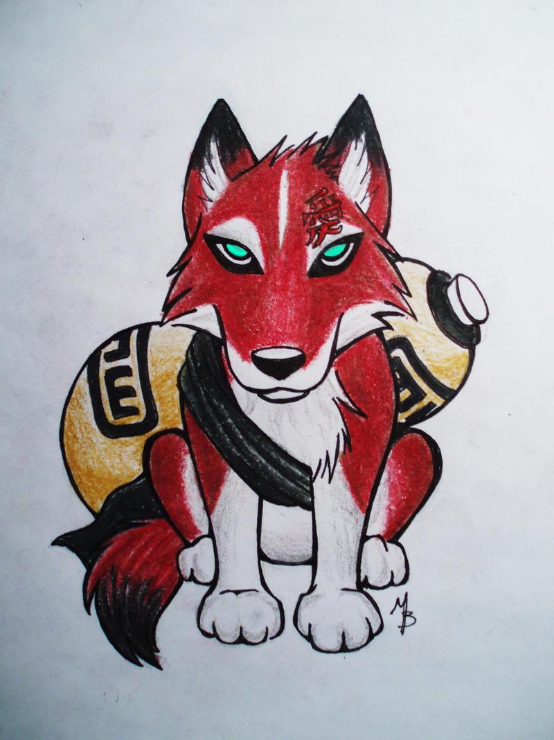 Gaara chibi wolf by AkashaOokami on DeviantArt Gaara As A Wolf