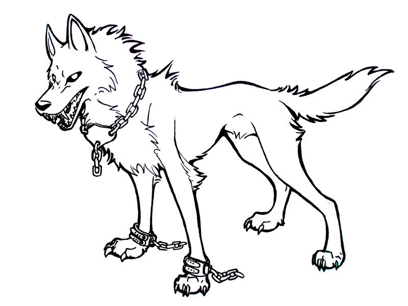 Vampire wolf: free lineart by AkashaOokami on DeviantArt Angry Black Wolf Drawing