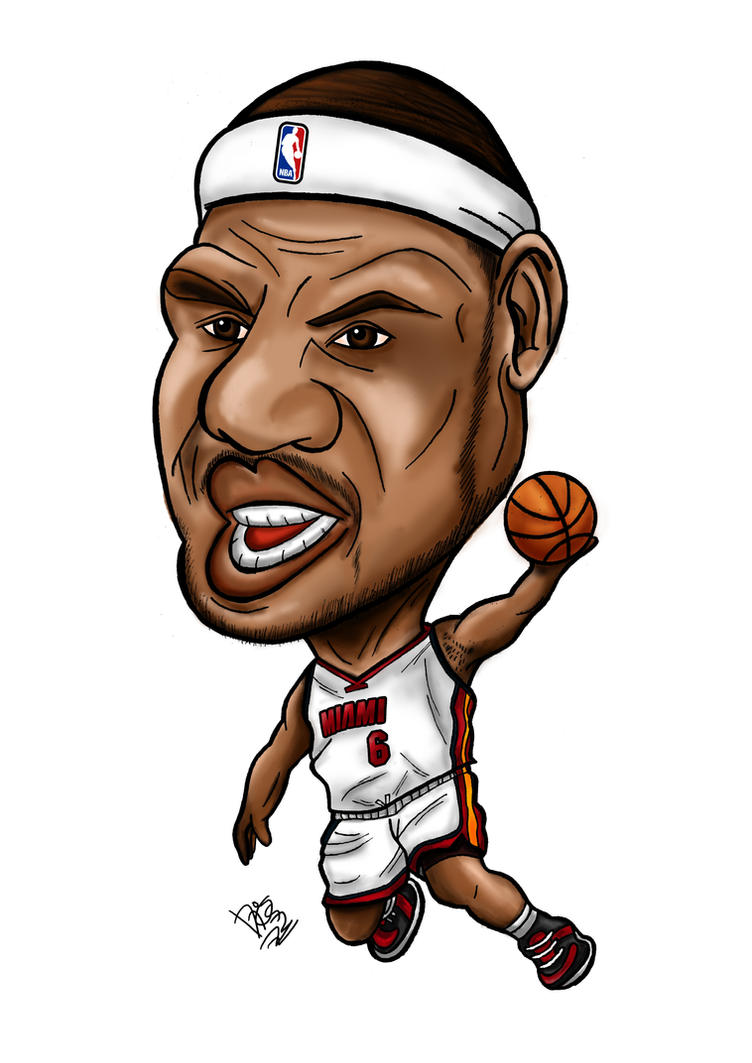 Lebron James Caricature by joshgalacticos