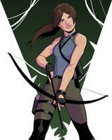 Day 12: Lara Croft by Cadhla182