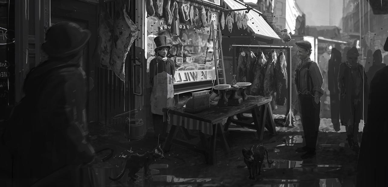 http://pre13.deviantart.net/ecd1/th/pre/i/2013/248/8/6/19th_century_butcher_production_painting_by_shutupandwhisper-d6kkl2h.jpg