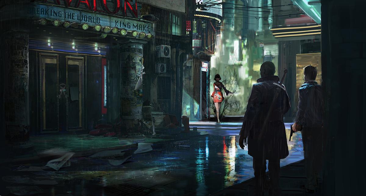 Street of Shadows by RhysGriffiths