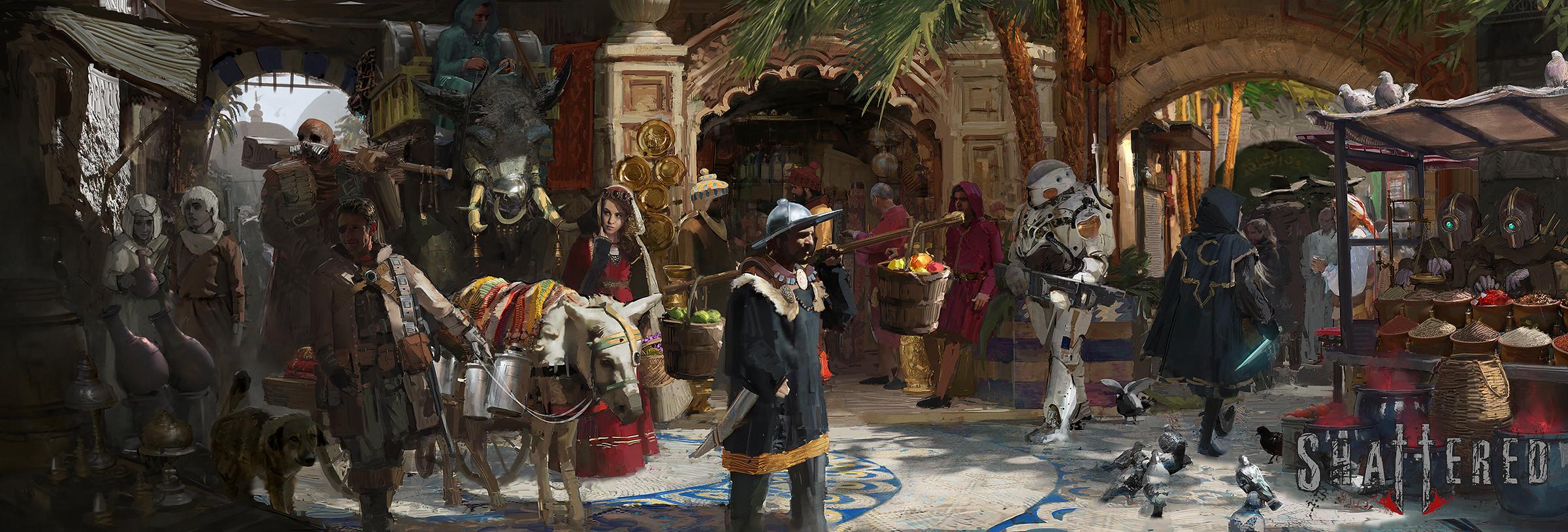 Shattered RPG - Market of Lokoran