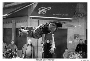 Street performer by Ockie