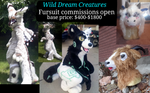 Fursuit commissions open! by okami-wildclaw