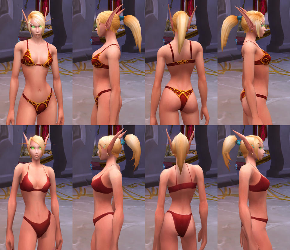 Nude female blood elf art pron comics