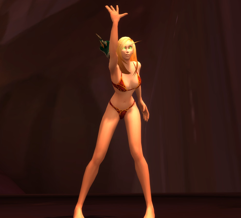 sexy naked blood elf female
