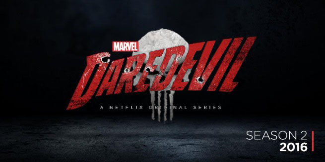 Daredevil Season 2 Logo With Punisher By Thedanielwolf