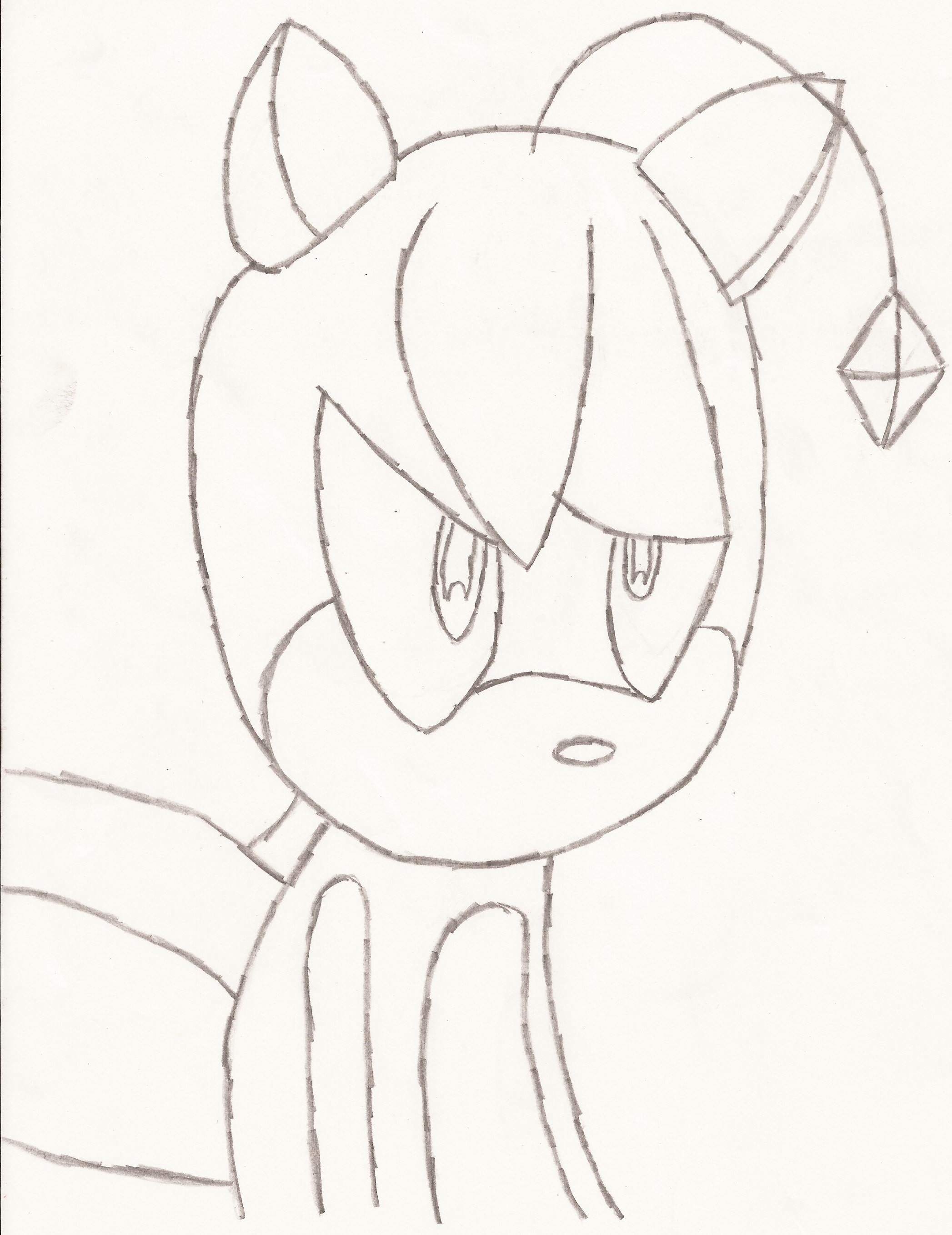 tails doll simple drawing by liatlns on deviantart