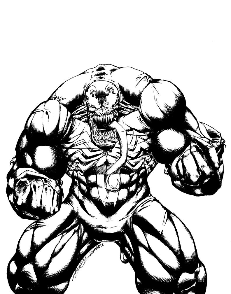 Line Art Marvel : Venom line art by confuciusretaliation on deviantart