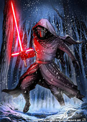 Cartoon Wars - Kylo Ren fan art by Otisso