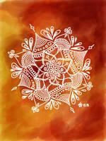 Flame mandala  by Jfabdoodles