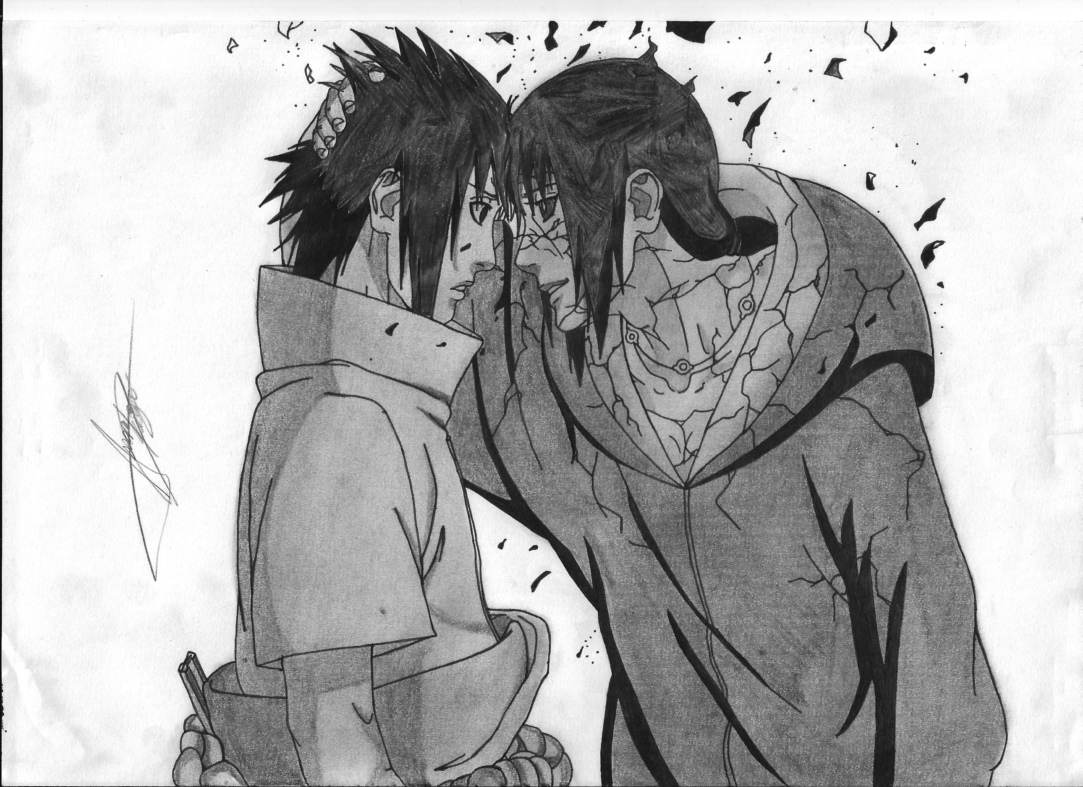 Itachi y Sasuke Manga 590 Te Amare Por Siempre 2 by ...