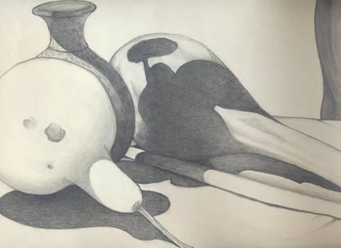 pencil sketch gourds