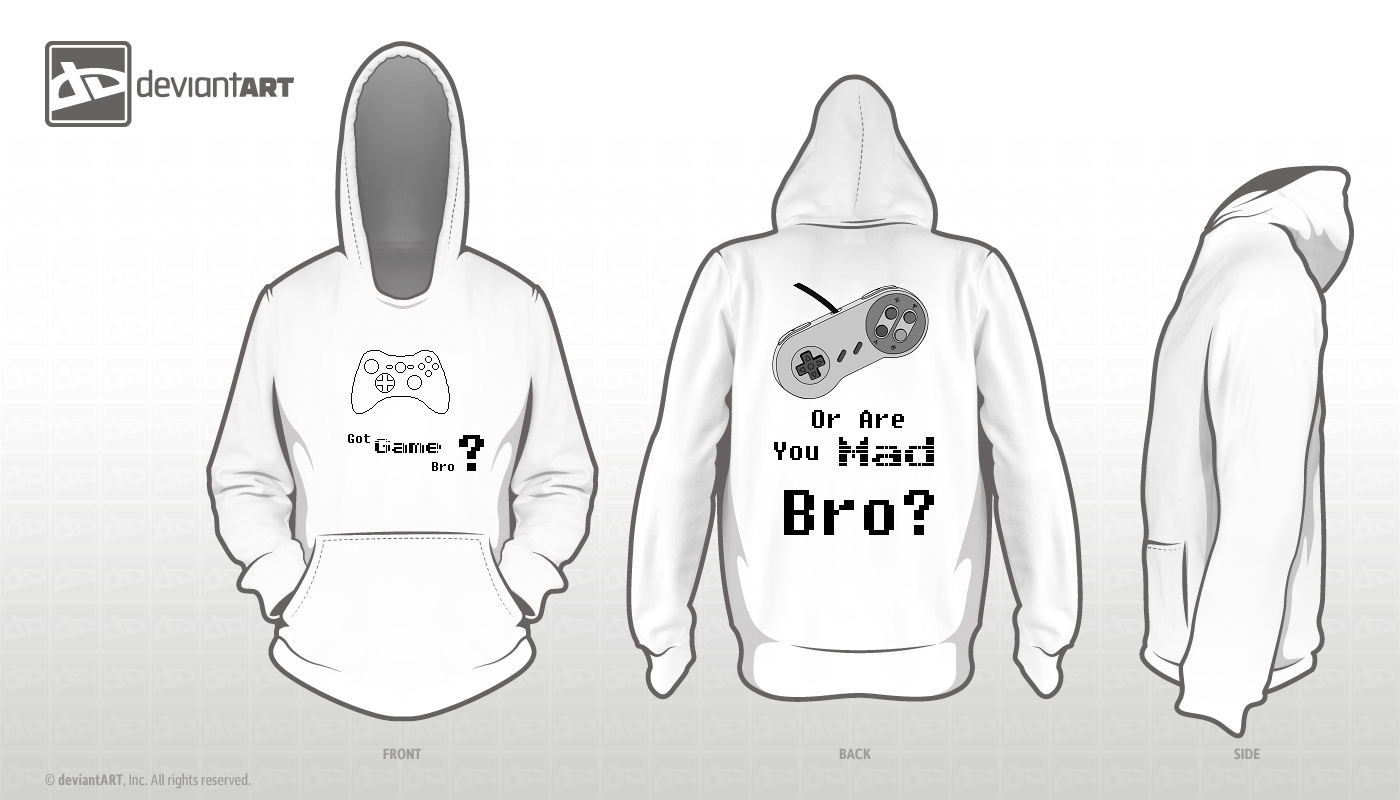 Hoodie Template. Got Game Bro? by xxstevezz on DeviantArt