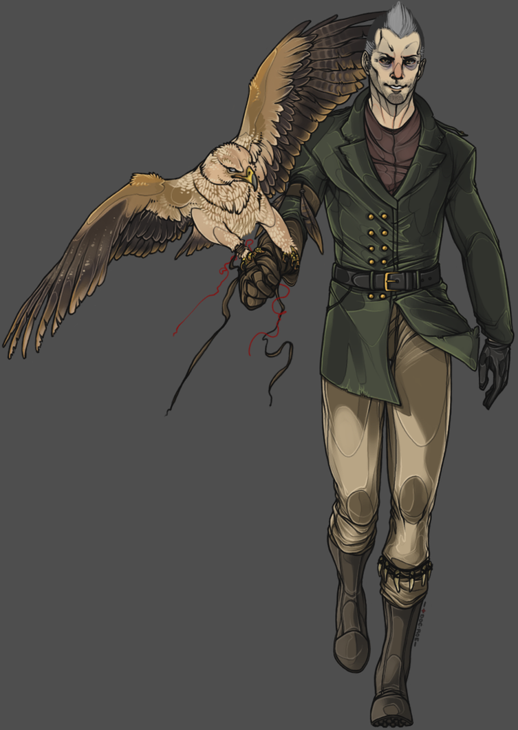 Commission 019 - Kolja with Imperial Eagle by ravenshield