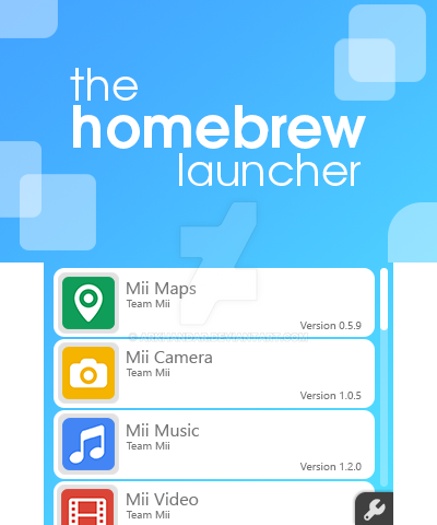 The Homebrew Launcher: Menu - Nintendo 3DS Concept by Arkhandar on
