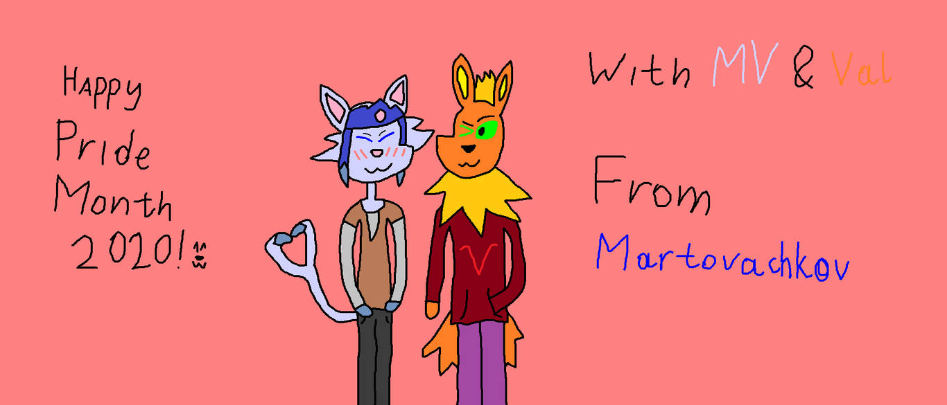 Happy Pride Month 2020! ^w^ with Martin and Valeri