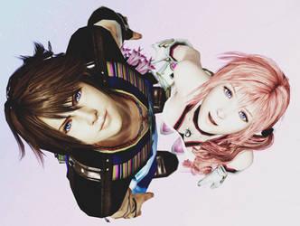 Noel and Serah by mizukimarie