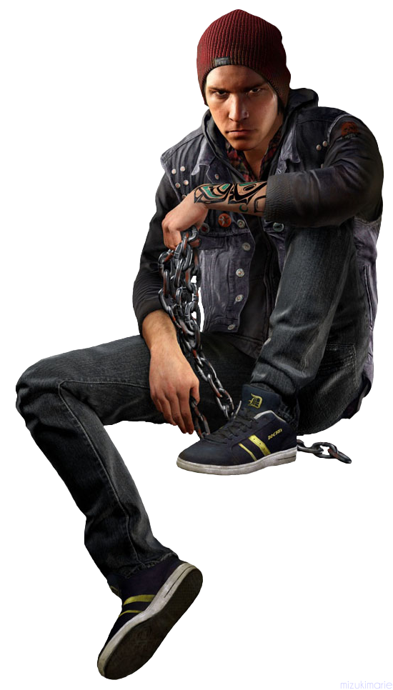 inFamous Second Son Delsin Rowe Render Cutout 2 by mizukimarie