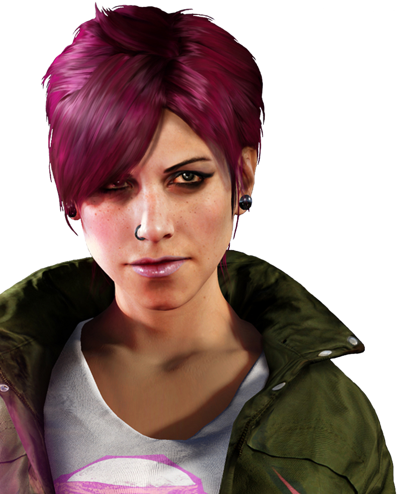 inFamous Second Son Fetch Portrait Render Cutout by mizukimarie