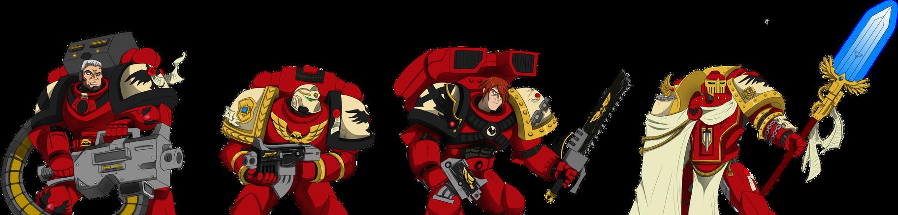 Blood Ravens heroes by Littlecutter