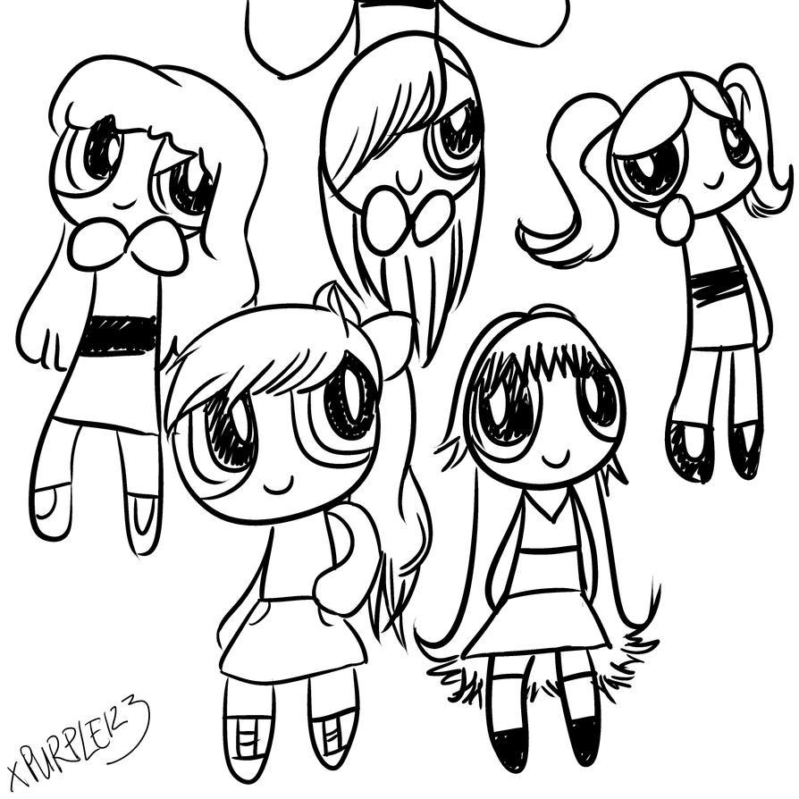RQ ~ The Evil Emo Girls, Bonnie and PowerfulAnnie by xPurple123