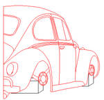 Punch Buggy Lineart