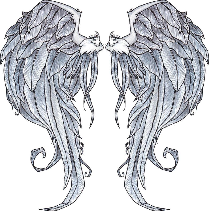 Beautiful Angel Wings Drawing | www.imgkid.com - The Image ...