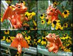 Orange Baby Dragon