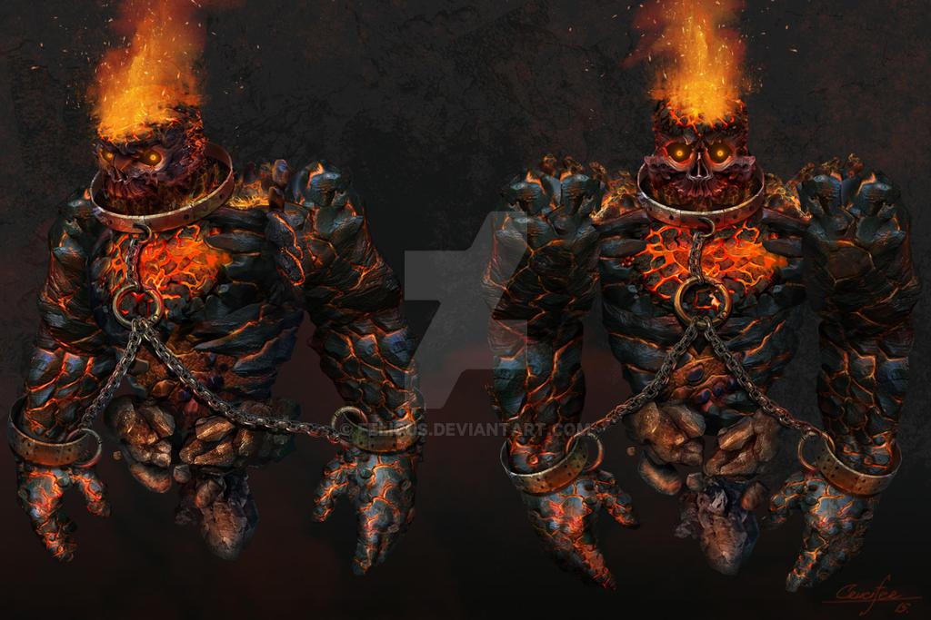 Fire Golem by Felicus
