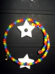 Rainbow Star Bracelet by TheFrisk