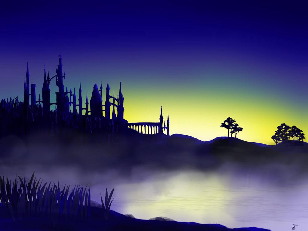 HP fan art: Hogwats by Charismor