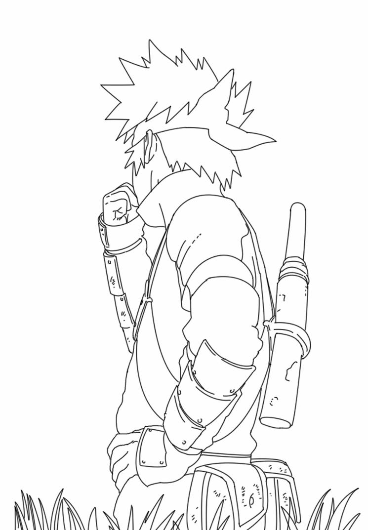 Kakashi kid ( line art ) by duckhoper on deviantART