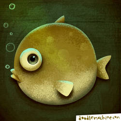 Fisheye Flounder by andredoodles