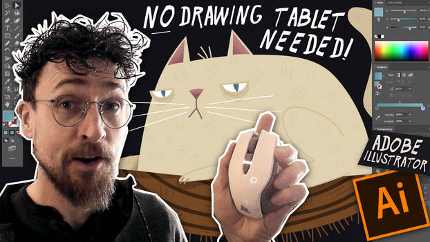 How to make an illustration using a mouse (VIDEO)