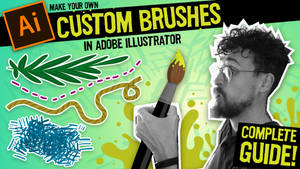 How to make your own CUSTOM BRUSHES in Adobe Illus