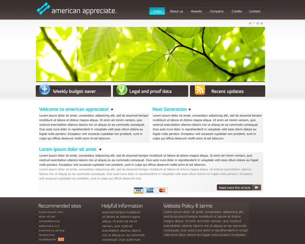 Aa Corporate website design by ~Gwstyle on deviantART